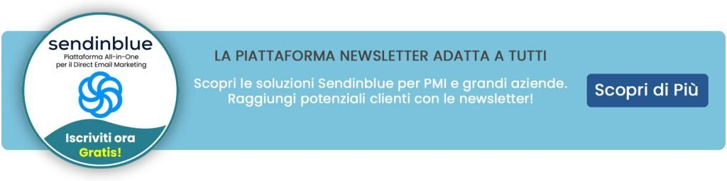 Piattaforma newsletter Sendinblue