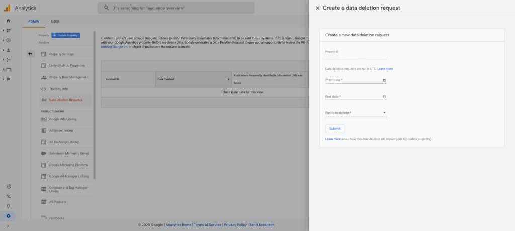 Google Analytics raccolta dei dati