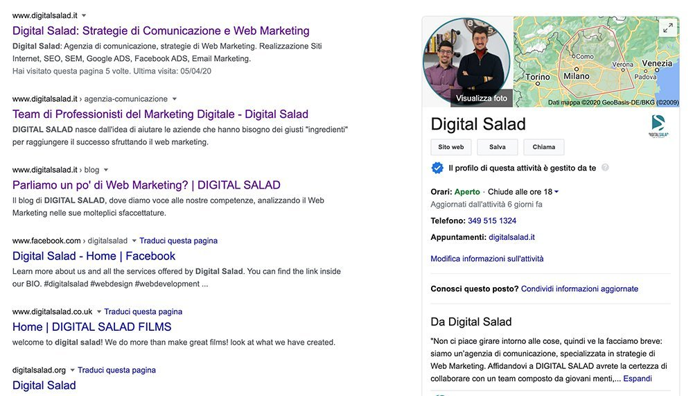 Google my Business Digital Salad
