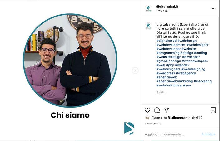 Post instagram Digital Salad Agenzia di comunicazione