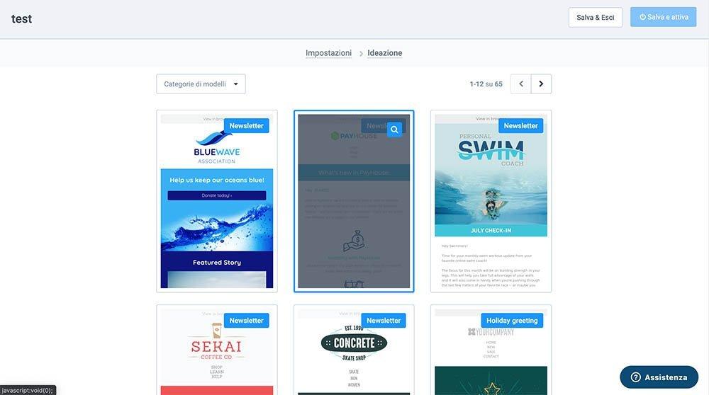 modelli template newsletter sendinblue