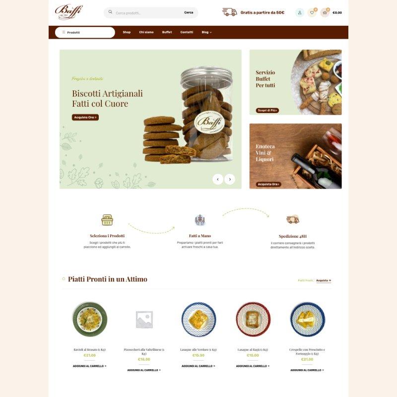 sito web home page baffi alimentari