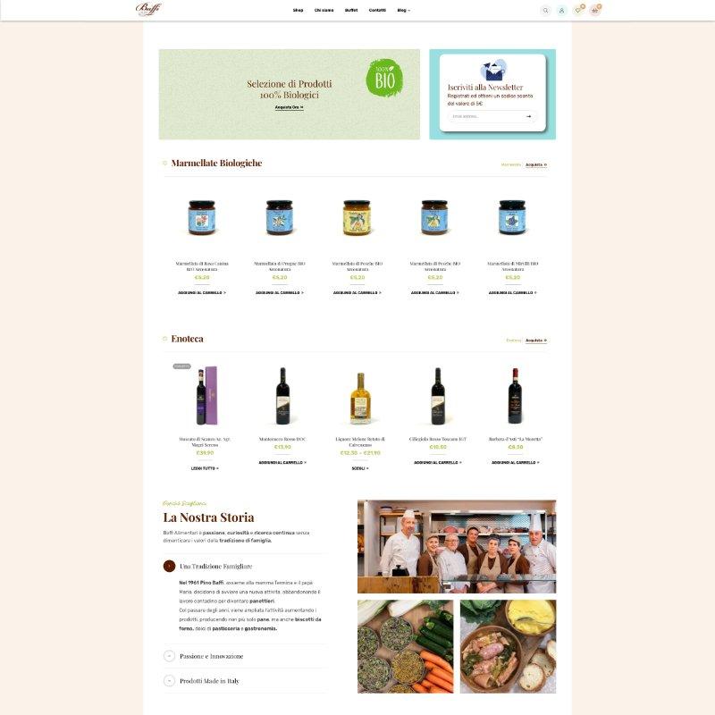 sito web homepage baffi alimentari