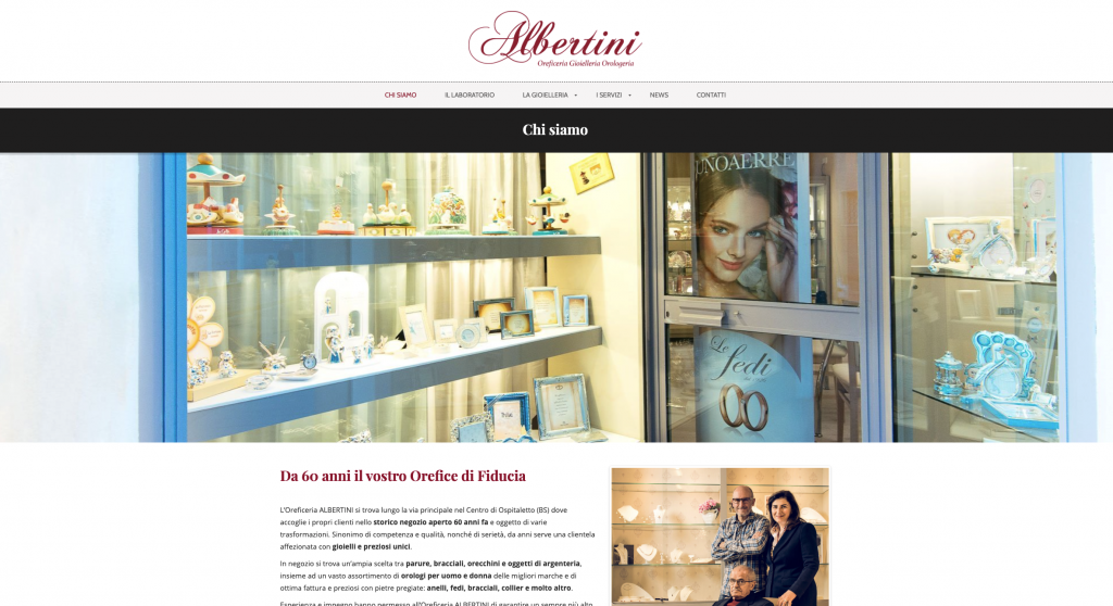 sito web oreficeria caso studio