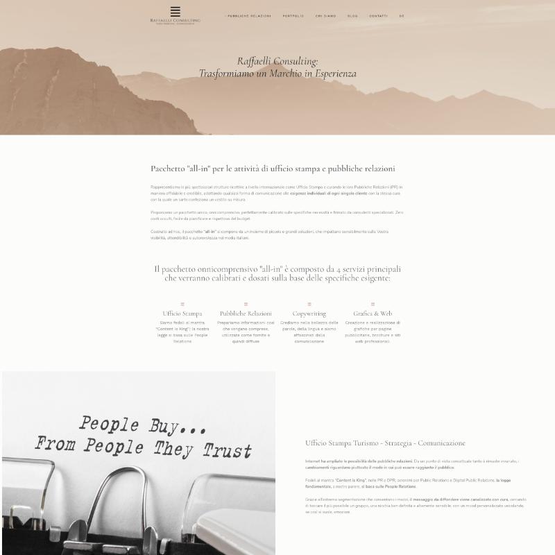 sito web per agenzia ufficio stampa