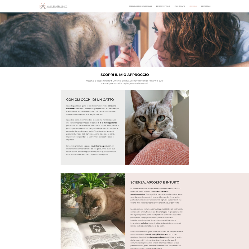 realizzazione sito web consulente feline