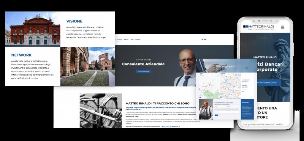 realizzazione sito web matteo rinaldi portfolio
