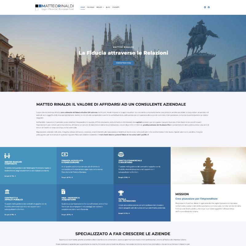 sito per consulenti aziendali