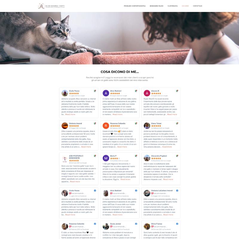 sito web consulente felina