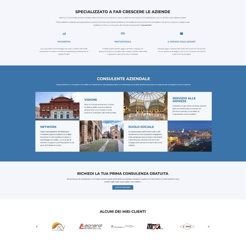 sito web matteo rinaldi consulente aziendale