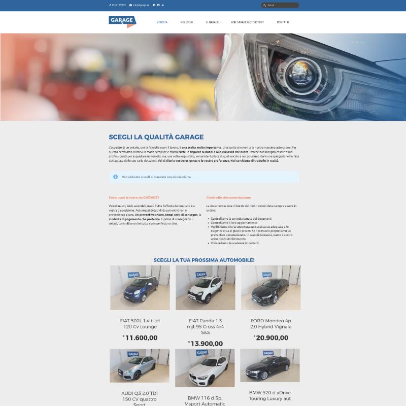sito web per meccanico e carrozziere