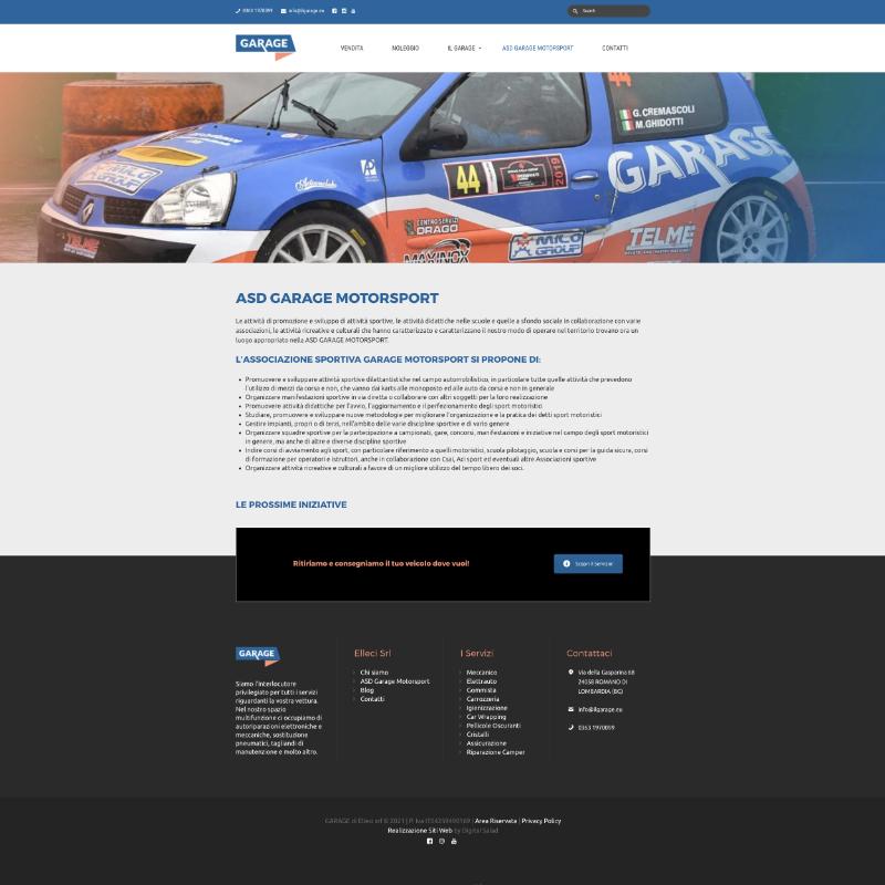 sito web per meccanico garage