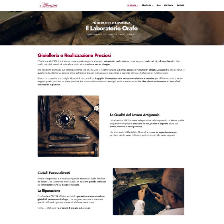 sito web per oreficeria screen 1
