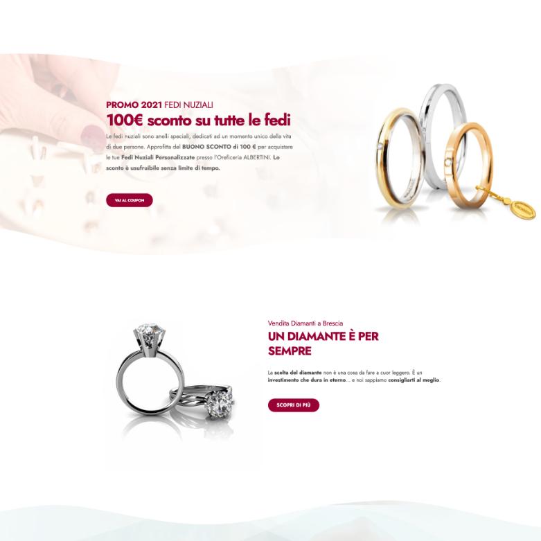 sito web per oreficeria screen 2