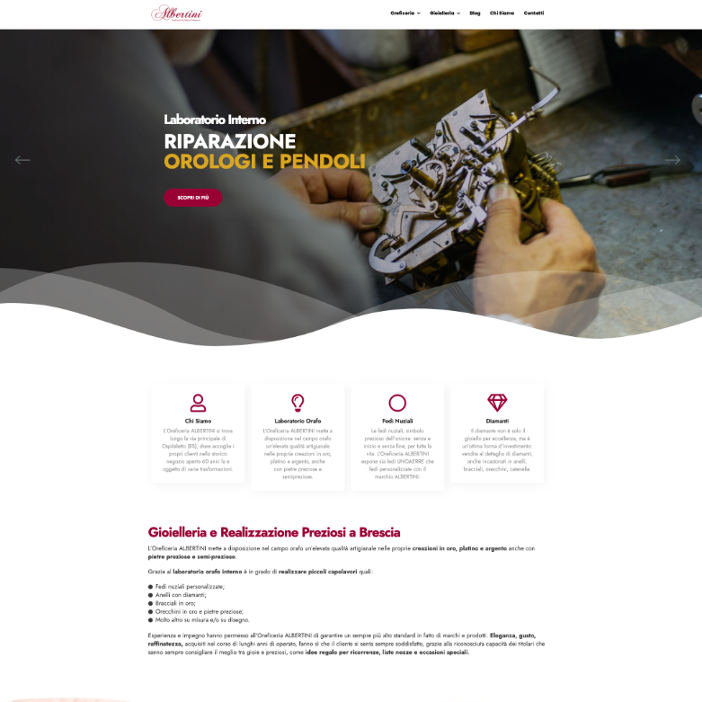sito web per oreficeria screen 3
