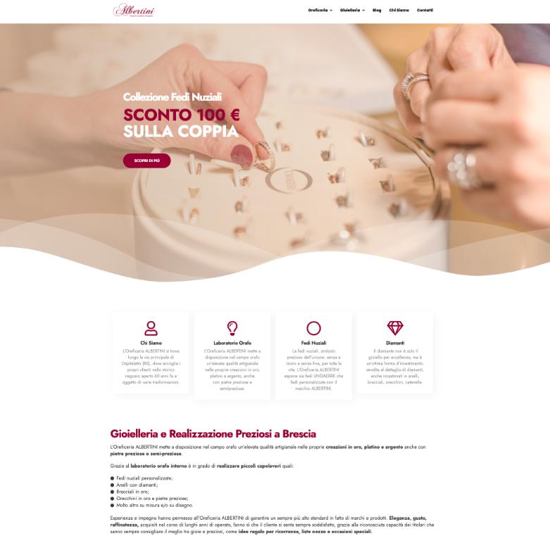 sito web per oreficeria screen 4